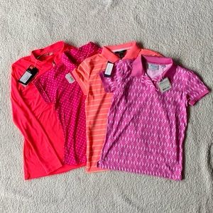 Lot of Girls NWT Youth Pink Golf Polos